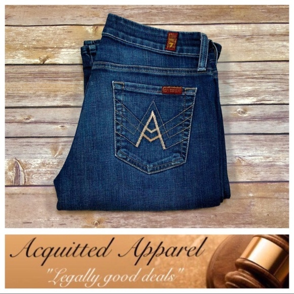 7 For All Mankind Denim - 7 For All Mankind A Pocket Bootcut Jeans Petite
